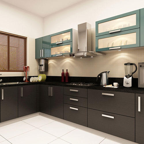 Modular Kitchen: Designer Modular Kitchen At Rs 100000 /piece