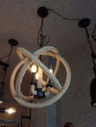 Vintage Small Rope Hanging Chandelier