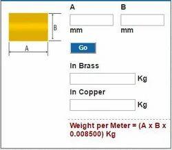 Rectangle Rods Weight Calculator