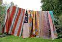 Vintage Kantha Quilt Handmade Patchwork Kantha Throw