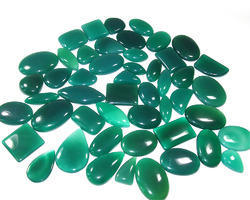 Green Onyx Mix Shape Size Cabochon Lot