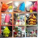 Hanging Fabric Lanterns