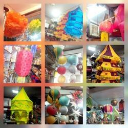 Hanging Fabric Lanterns