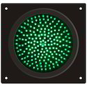 Green Round Traffic LED Light