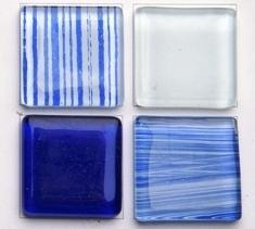 Blue Crystal Mosaic Tiles