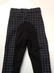 alps Black and Blue Ladies Woven Fabric With Clarino Seat Breeches