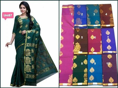 cdda3d39c7b11e Kora Cotton Saree at Rs 500  piece(s)