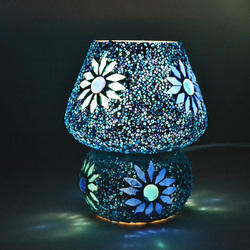 Mosaic Blue Table Lamp