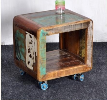 Recycled Wood Side Table Recycled Wood Furniture House Of