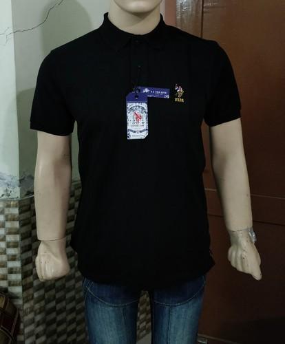 f95ecee572b Black Cotton Linen U S Polo Assn T- Shirt