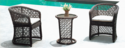 Outkraft Cane Rattan Style Outdoor Wicker Coffee Set