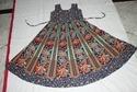 Rajasthani Print Dancing Girl Blue Frock