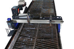 Plasma Cutting 100 mm Thickness MS/SS/Aluminum