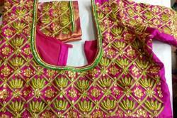 2cc6de2b7ff568 Wholesale Supplier of Maggam Work Blouse Fabric & Beads maggam work ...