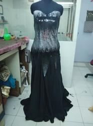 Black Flared Party Wear Gown