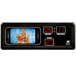 Durga Maa Photo Studio Clock