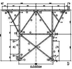 Steel Structure GA drawings