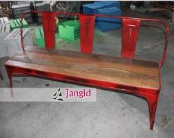Jangid Art And Crafts Retro Industrial Wooden Bench