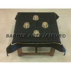 Table Cover Silk Embroidery Work Mugal