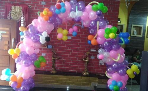 Birthday Flower Balloons Arch Decoration Services