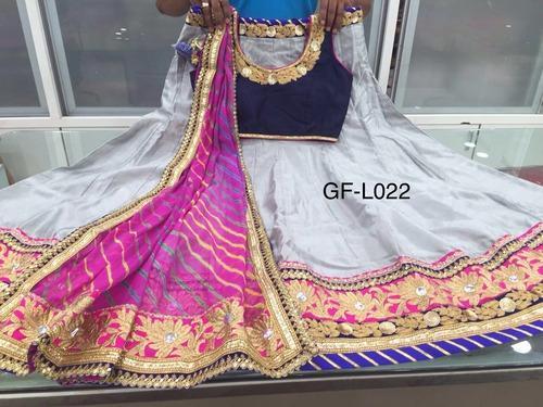 9c1779a316 Georgette White Semi-Stitched Navratri Lehngha Choli, Rs 2650 /piece ...
