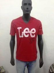 Cotton Printed Men''''S V Neck T Shirts