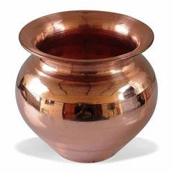 Plain Round Copper Pooja Lota