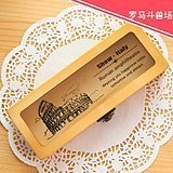 Wooden Buckle Pencil Multifunction Stationery Storage Box