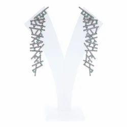 Tsavorite Diamond Dangle Earrings