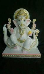 Marble Ganpati Bappa Marble Statue