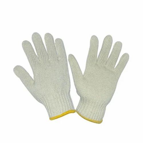 Unisex Full Finger Cotton Knitted Hand Gloves Rs 8 5