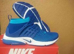 Blue Nike shoe