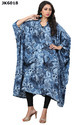 Women''s Floral Printed Party Wear Evening Wear Short Kaftans