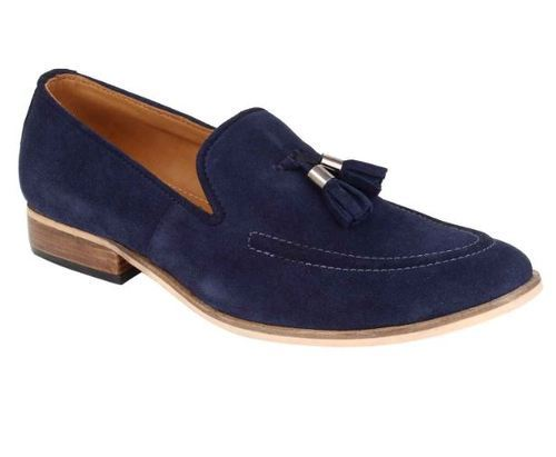 de5fbaa0b38 Handmade Tasselled Leather Loafer - Blue
