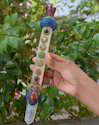 A1, Tibetian Healing Wand, Jasper Angel, Rose Quartz, Crystal