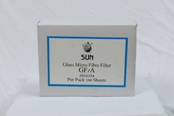 SUN white Glass Microfiber Filter Paper, Packaging Type: Pack of 100sheet