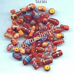 Mix Glass Beads Colour Orange