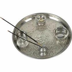 Pooja Dish - Steel German Silver