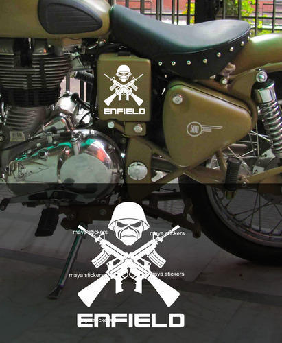 Custom sticker for royal enfield