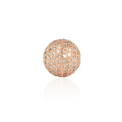 rose gold pave bead diamond finding jewerly