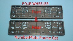Ind 4 Wheeler Number Plate Frame