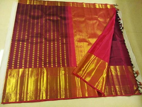 8ce29a5944 Pure Silk Party Wear And Bridal Wear Kanchipuram Silk Saree, With Blouse  Piece