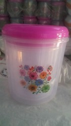 Plastic containers 3 pcs set