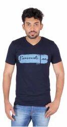 Round Printed Mens Cotton T Shirts
