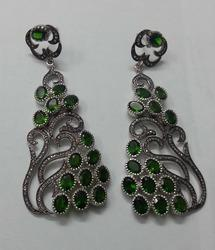 Victorian Pave Diamond Earring Jewelry