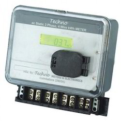 Ac Three Phase Static watt hour meter with LCD