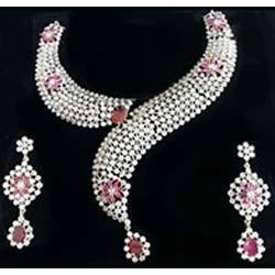 Color Stone Jewellery Set
