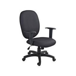 Black Revolving Office Chair, Back Rest Adjustable: Yes, Adjustable Seat Height: Yes