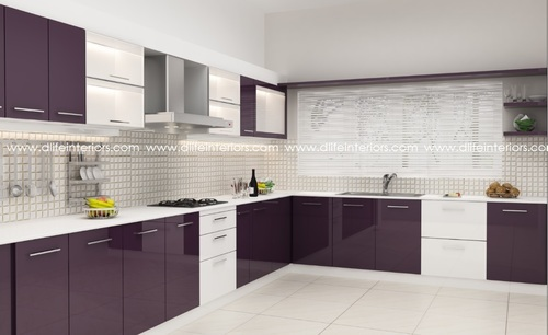 modular kitchen designs - straight modular kitchen design