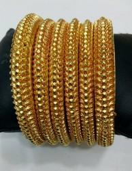 6 Pc Gold Plated Bangle